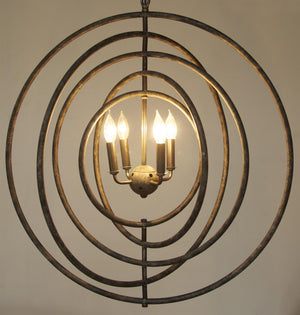 Noir Brooks Circles Pendant Light