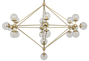 Noir Pluto Chandelier - Large - Antique Brass