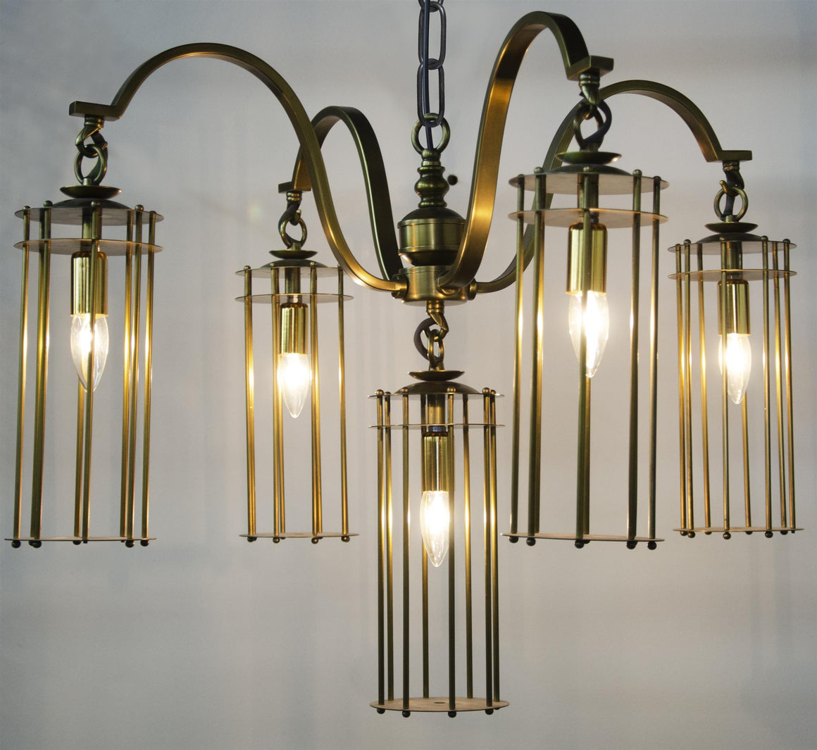 Noir Chandler Chandelier - Antique Brass