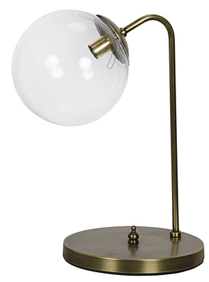 Noir Knick Table Lamp - Antique Brass