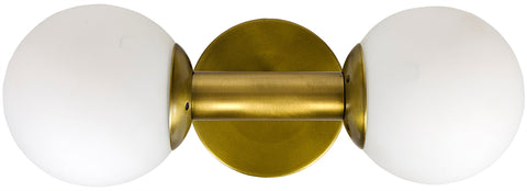 Noir Antiope Mod Sconce - Antique Brass