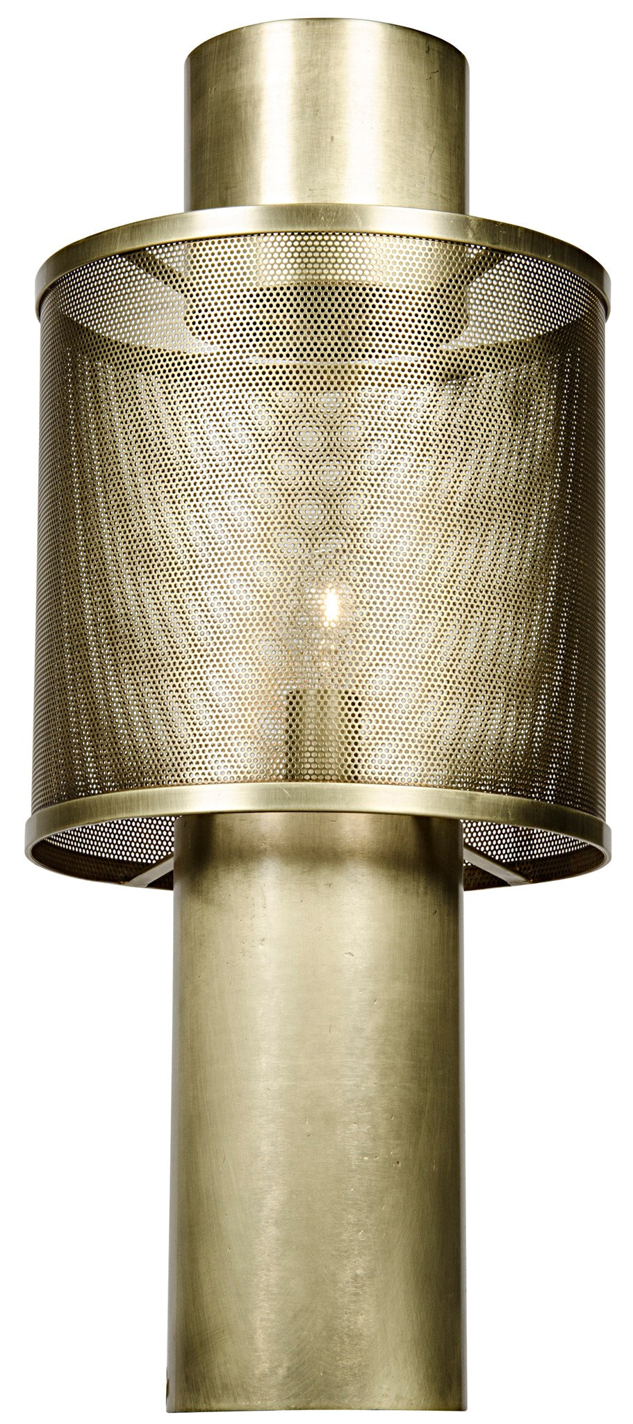 Noir Thana Table Lamp - Antique Brass