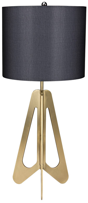 Noir Candis Retro Table Lamp - Antique Brass