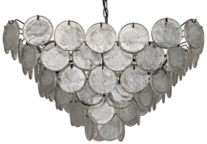 Noir Scala Glass Chandelier
