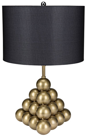 Noir Lea Table Lamp - Brass