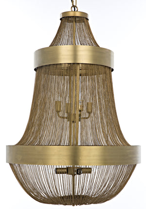 Noir Pavilion Chandelier - Antique Brass