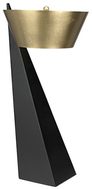 Noir Claudius Slant Table Lamp