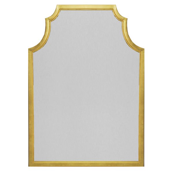 Worlds Away Large Pagoda Style Mirror – Gold Leaf
