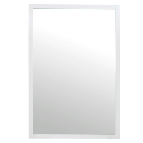 Worlds Away Large White Lacquer Rectangular Mirror