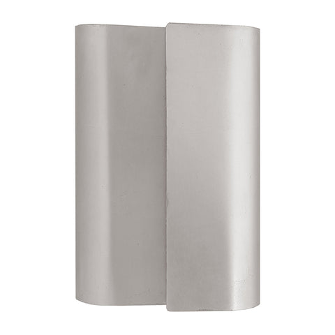Worlds Away Sculptural Metal Sconce – Silver Leaf