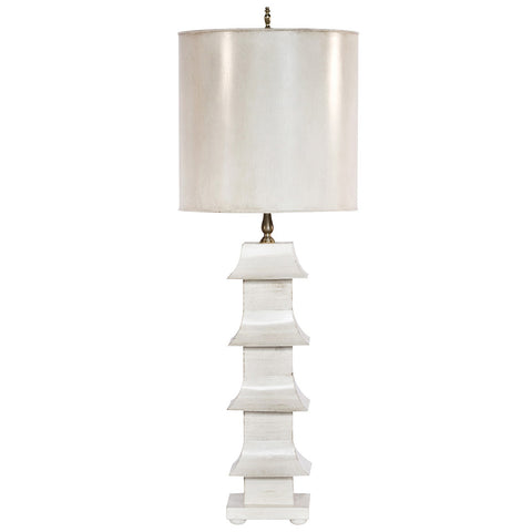 Worlds Away Tole Table Lamp with Shade – Cream