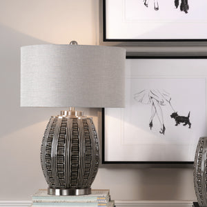 Aura Ash Black Glaze Lamp