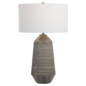 Uttermost Rewind Gray Table Lamp