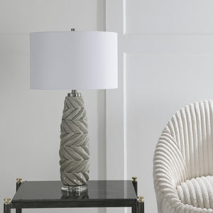 Uttermost Kari Light Gray Table Lamp