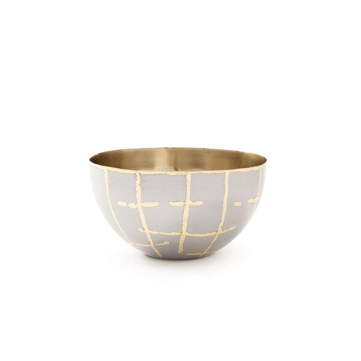 Bunglow 5 LOOM SMALL BOWL, SILVER