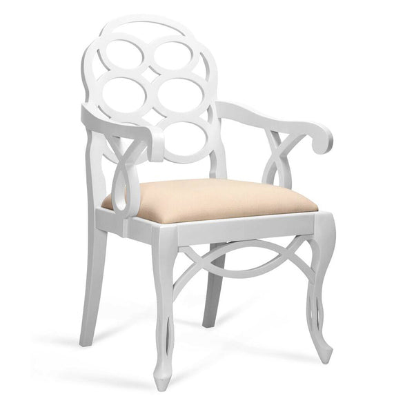 Bungalow 5 Loop Arm Chair — White Lacquer