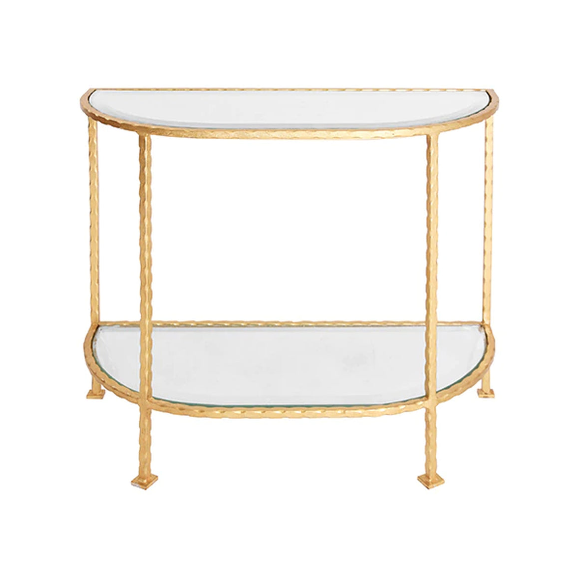 Worlds Away Iron Side Table - Gold Leaf