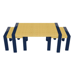 Lyford Nesting Lacquer Coffee Tables - Navy Blue (19 colors available)