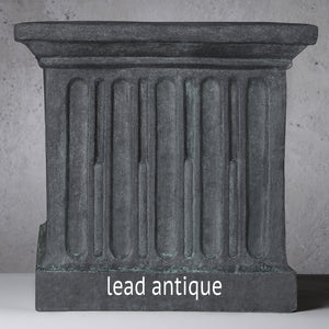 Small Cast Stone Directoire Planter - Lead Antique (Additional Patinas Available)