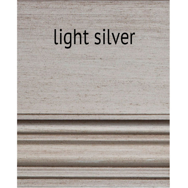1-Drawer Nightstand with Shelf - Light Silver (25 Finish Options )
