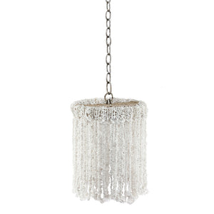 "10"" Lily Beaded Quartz Chandelier – 5 Colors"