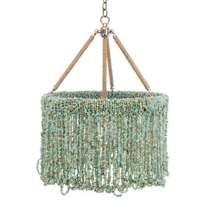 "18"" Lily Beaded Quartz Chandelier – 5 Colors"