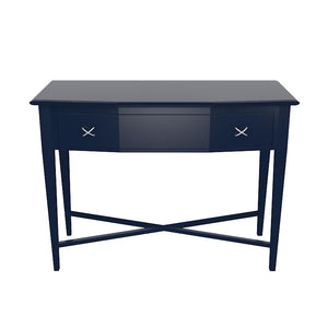 Manhattan 1-Drawer Lacquer Console – Navy (Additional Colors Available)