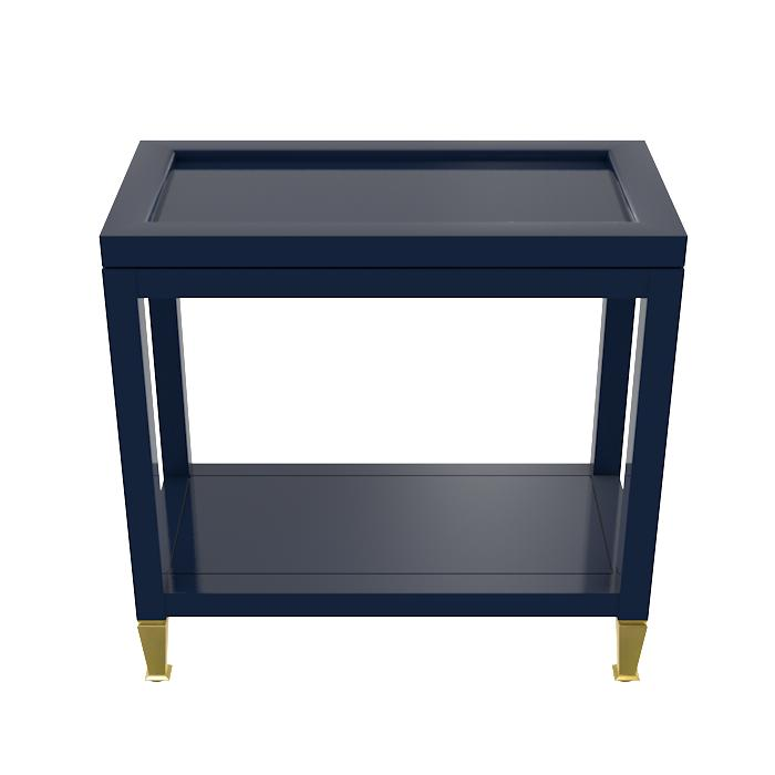 Manhattan Lacquer Drinks Table – Navy Blue (19 colors available)