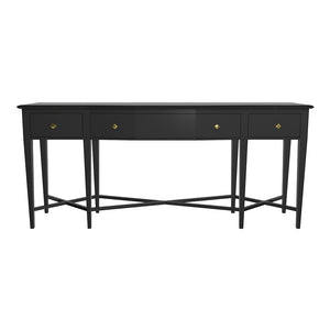 Manhattan Stretch 3-Drawer Lacquer Console – Black (Additional Colors Available)