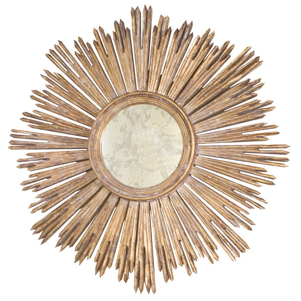Worlds Away Sunburst Mirror – Gold Leaf