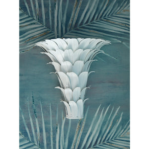 Worlds Away Leaf Wall Decor – White