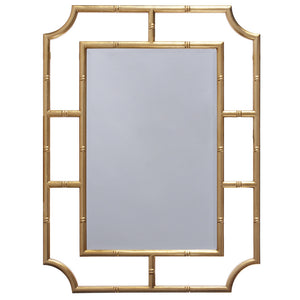 Worlds Away Bamboo Lacquer Mirror – Gold Leaf