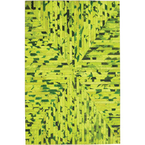 Patchwork Patterned Hide Rug - Bright Green