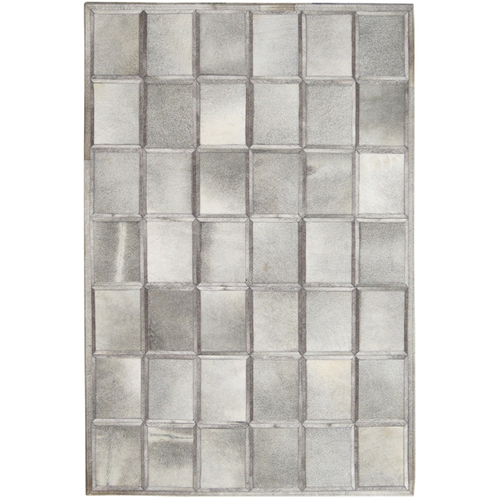 Geometric Pattern Hide Rug - Grey