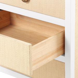 Bungalow 5 Mallet 8-Drawer, White Lacquer