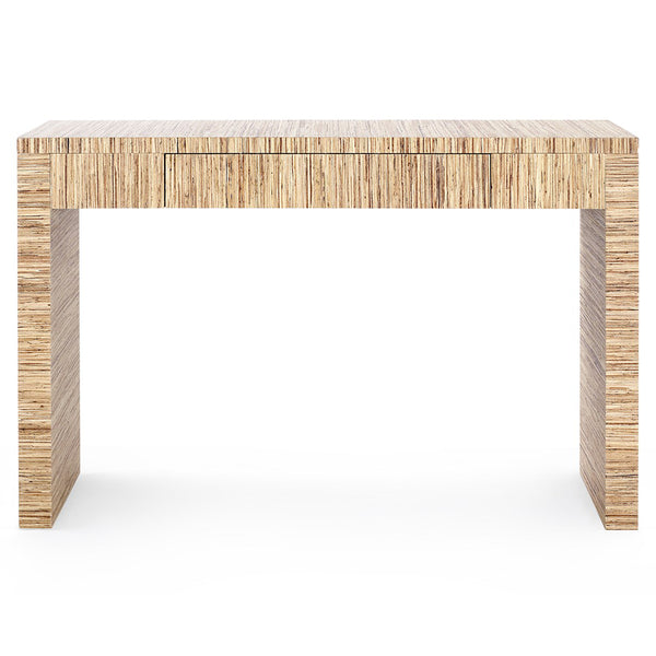 Bungalow 5 Lacquered Papyrus Console Table with Drawer – Natural