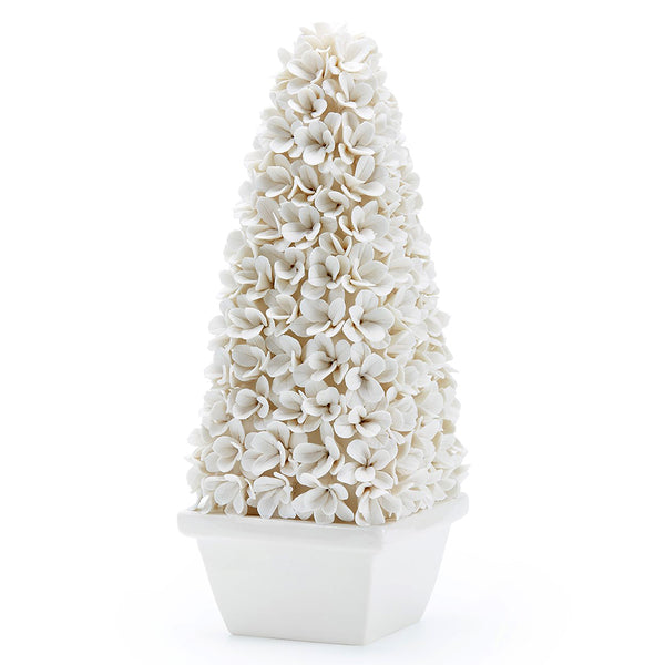 Bungalow 5 Tall White Porcelain Boxwood Topiary
