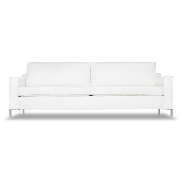 Modern Edge Sofa - White Linen (Other Colors Available)