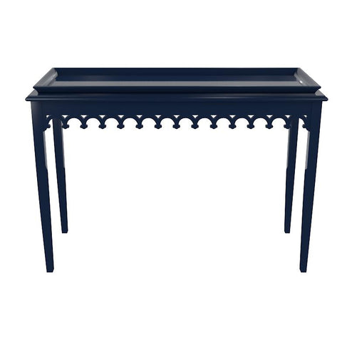 Newport Lacquer Console Table - Navy Blue (19 colors available)