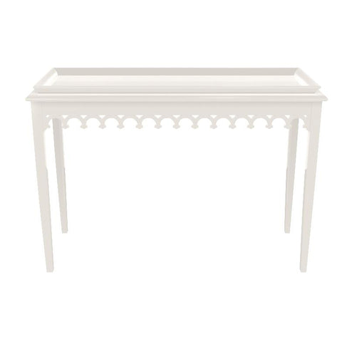 Newport Lacquer Console Table - White (19 colors available)