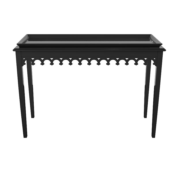 Newport Lacquer Console Table - Black (19 colors available)