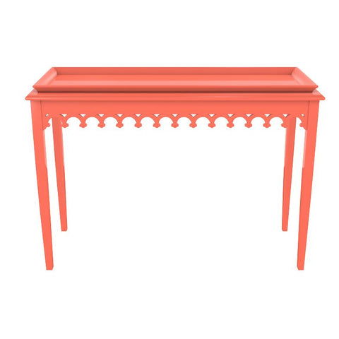 Newport Lacquer Console Table - Coral (19 colors available)