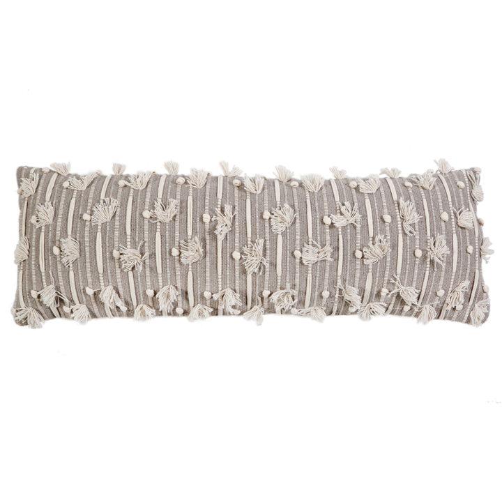 "POM POM AT HOME NORA HAND WOVEN PILLOW 14"" X 40"" WITH INSERT"