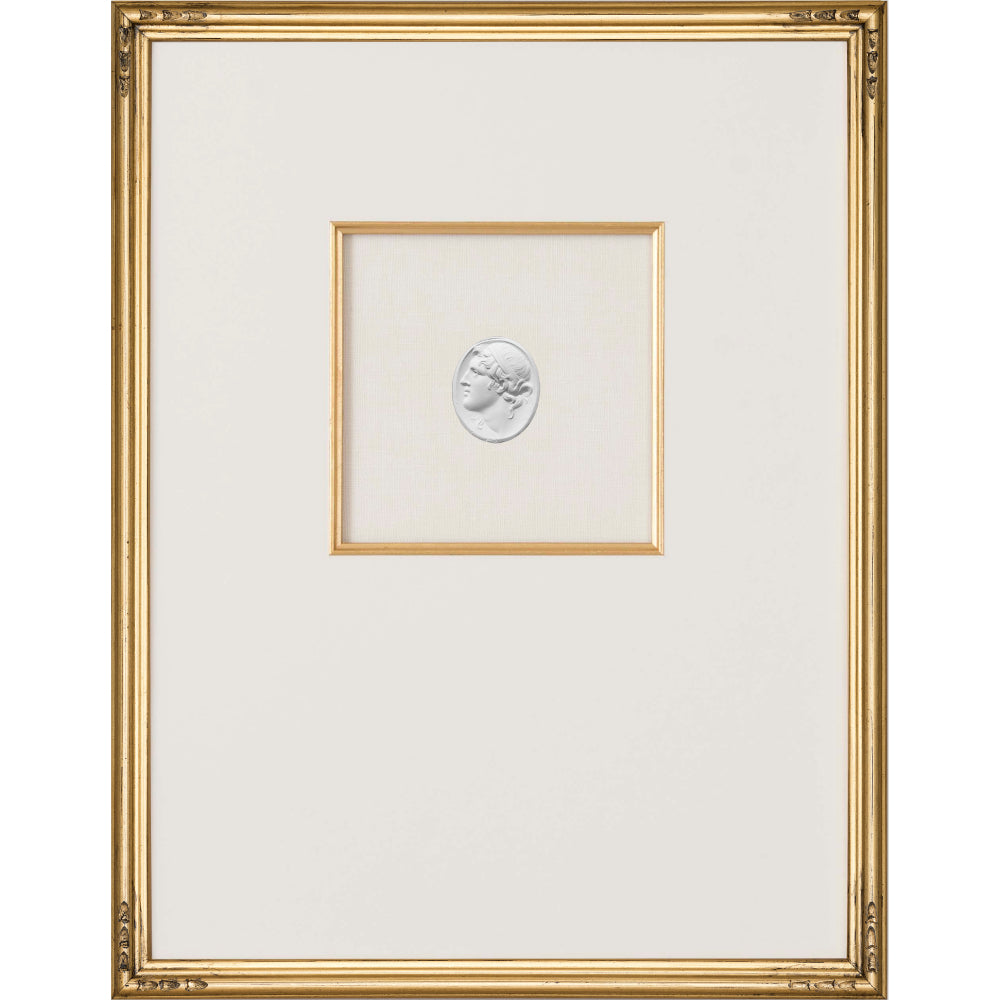 Intaglio Wall Art - Ganymede Portrait in Gold (3 Sizes)