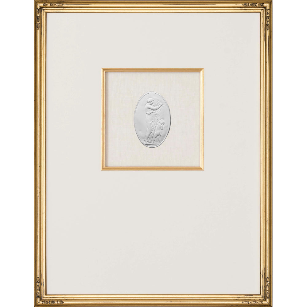 Intaglio Wall Art - Venus & Cupid in Gold (3 Sizes)
