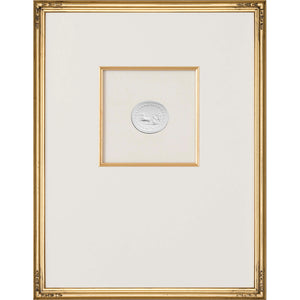Intaglio Wall Art - Mercury & Venus in Chariot in Gold (3 Sizes)