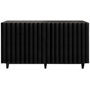 Worlds Away Lacquer Four Door Cabinet - Black