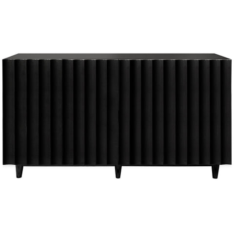 Worlds Away Lacquer Four Door Cabinet – Black