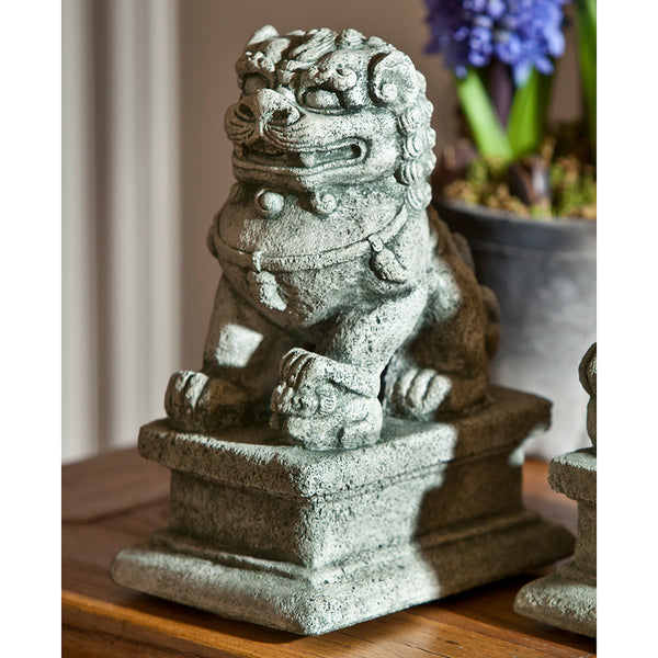 Small Temple Foo Dog Sculptures (Pair)