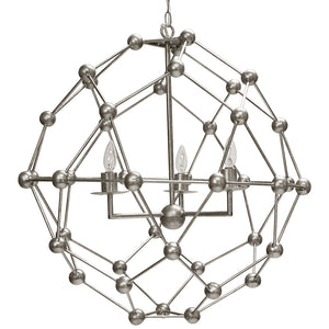 Worlds Away Large Molecule Chandelier – Silver Leaf
